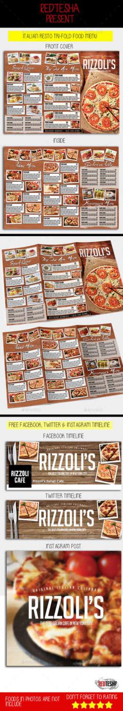 italian menu that is trifold width=