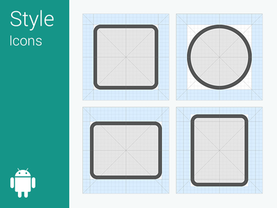 free android l icon grid system