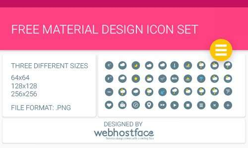 free material design icon set