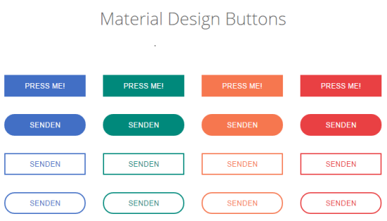 free material design buttons