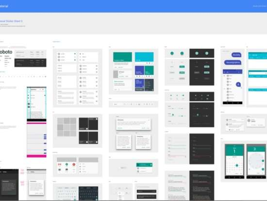 free material design by google .sketch resource