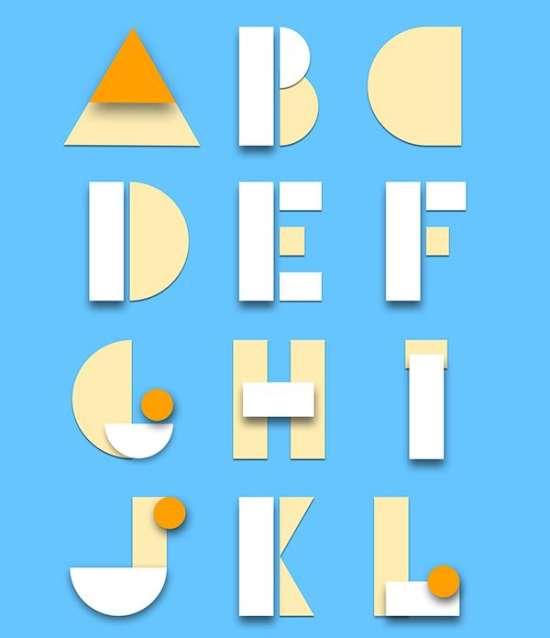 free material design psd alphabet