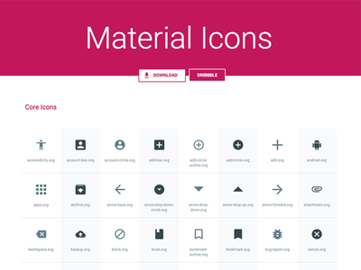 svg, sketch material icons pack