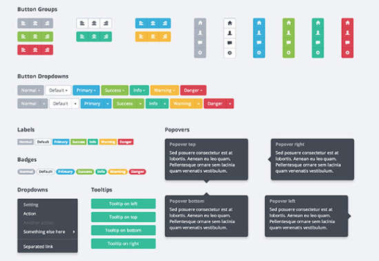 bootflat flat ui kit for bootstrap