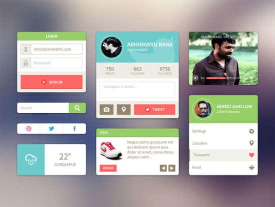 html version of ui kit of abhimanyu rana