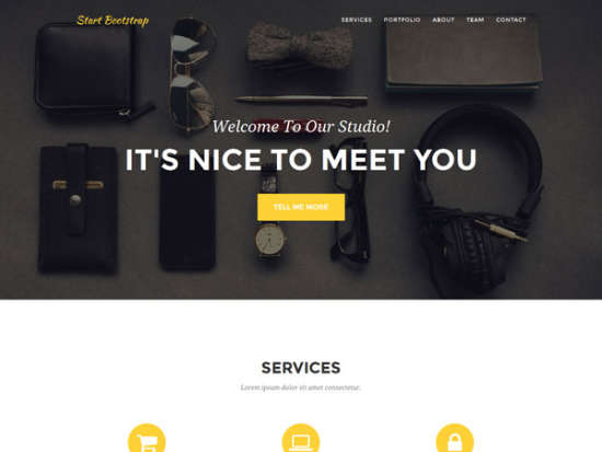 agency bootstrap template