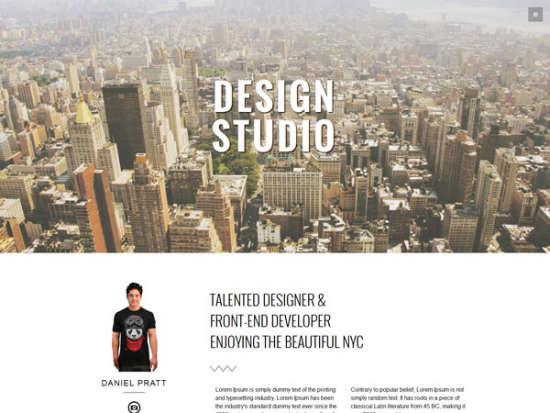 studio bootstrap template