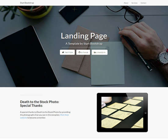 landing page bootstrap template