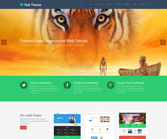 flat theme bootstrap template