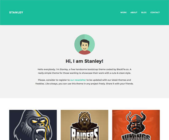 stanley bootstrap template
