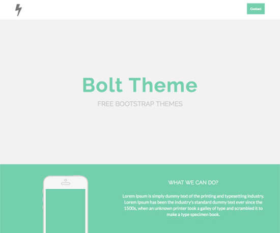 bolt bootstrap template