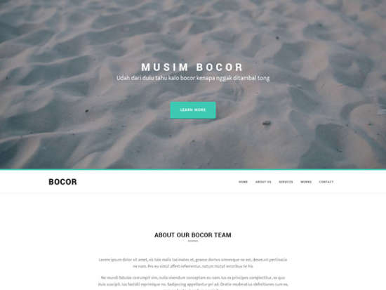 bocor bootstrap template