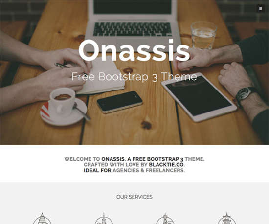 onassis bootstrap template