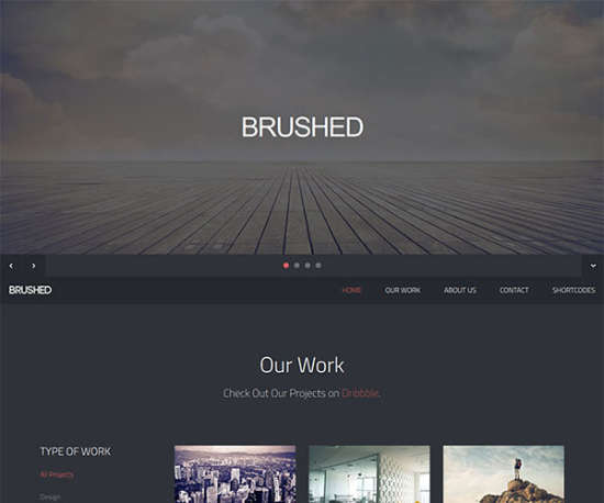brushed bootstrap template