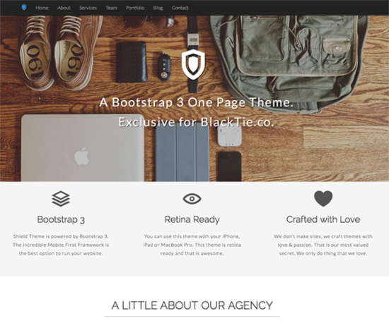 shield bootstrap template