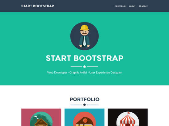 freelancer bootstrap template