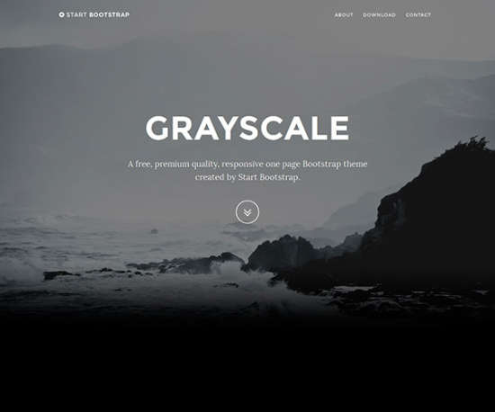 grayscale bootstrap template