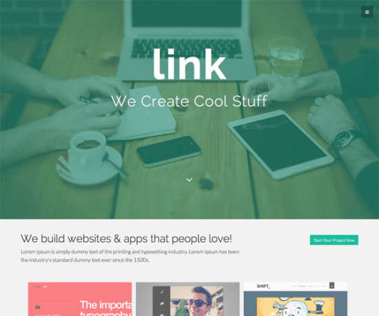 link bootstrap template