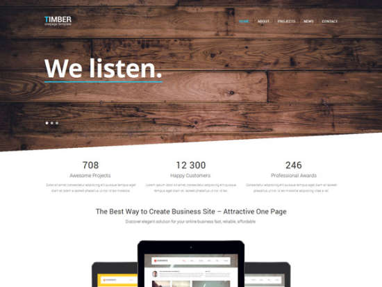 timber bootstrap template