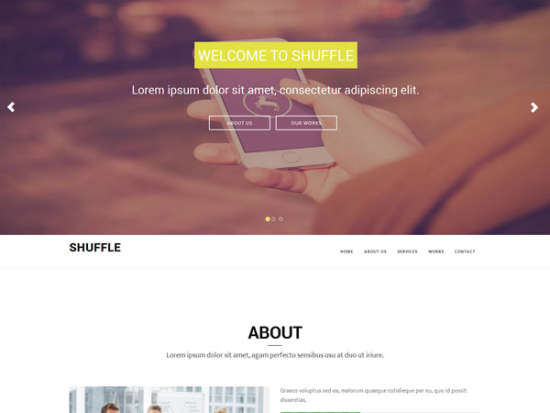 shuffle bootstrap template