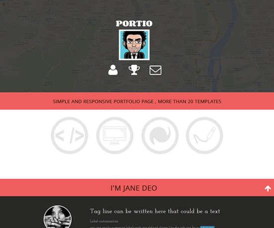 portio bootstrap template