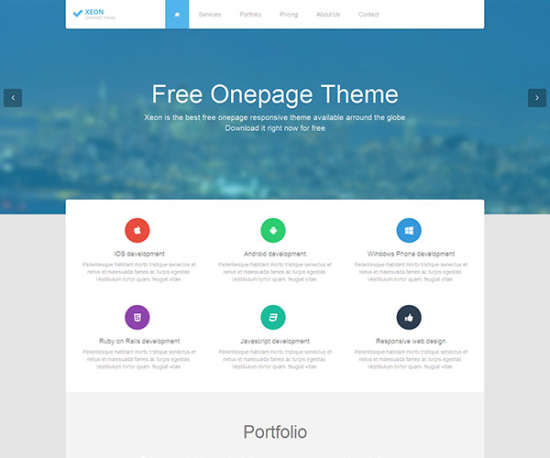 xeon bootstrap template
