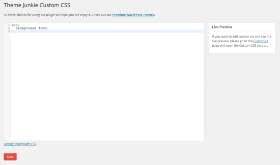 tj custom css wordpress plugin