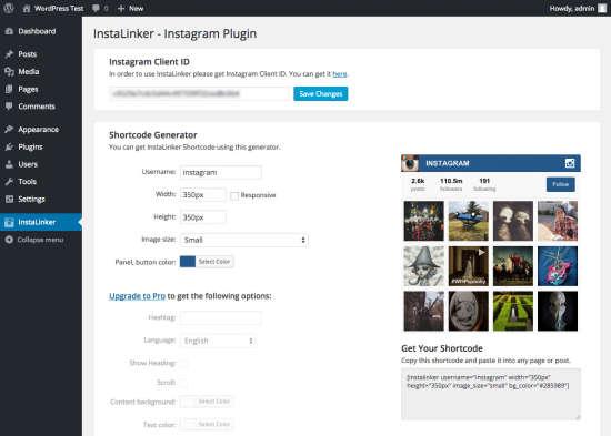 instagram plugin instalinker