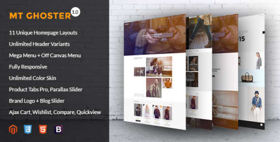 mt ghoster creative responsive magento theme