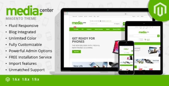 mediacenter responsive magento theme