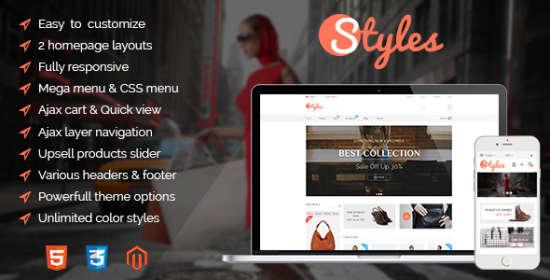 styles responsive magento theme