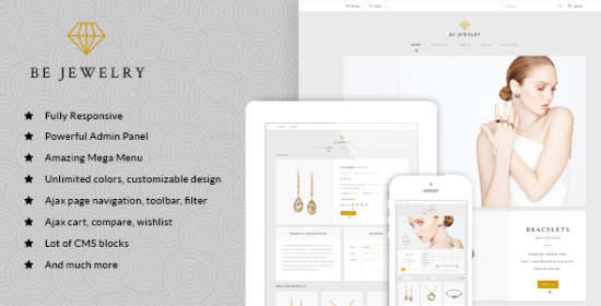 mt bejewelry material responsive magento theme