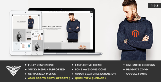 vintage minimal e-commerce megento theme