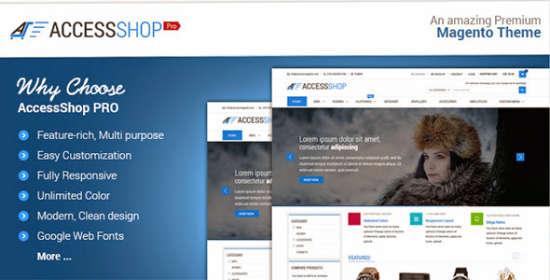 accesspress store pro multipurpose responsive magento theme