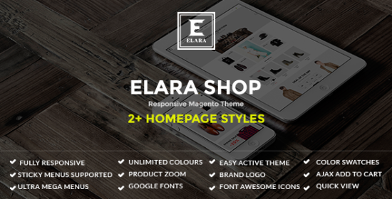 elara responsive magento fashion theme