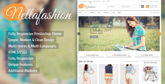 nellafashion responsive magento theme