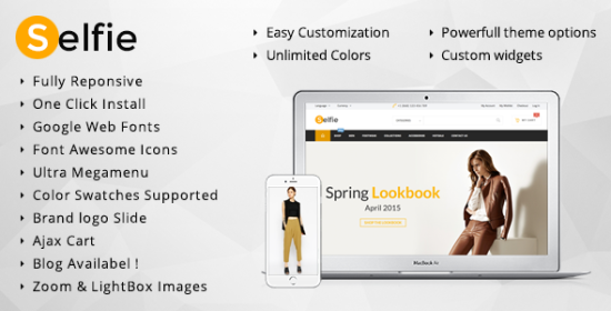 selfie endless colors magento theme