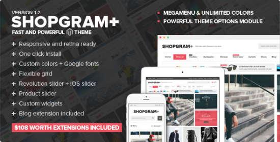 shopgram responsive magento theme