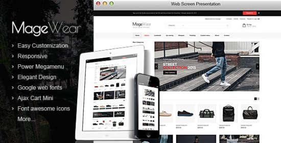 magewear responsive magento theme