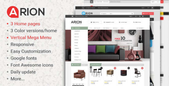 arion multistore responsive magento themes