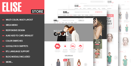 elise advanced fashion prestashop theme blog