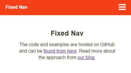 fixed responsive nav