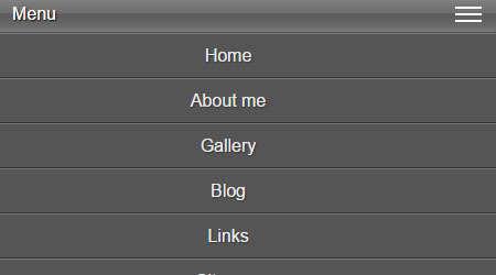 responsive mobile menu