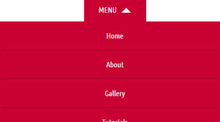 simple responsive navigation menu