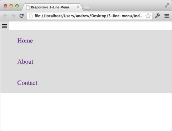 how to develop a three range fall down menu for a responsive website in jquery