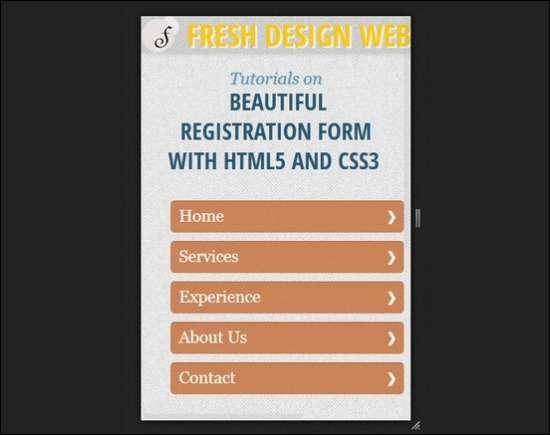 responsive menu css3 tutorial