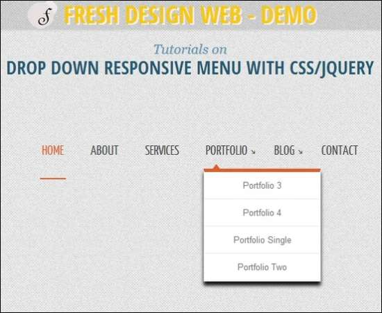 drop down responsive menu with css3 jquery
