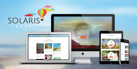 solaris travel company wordpress theme