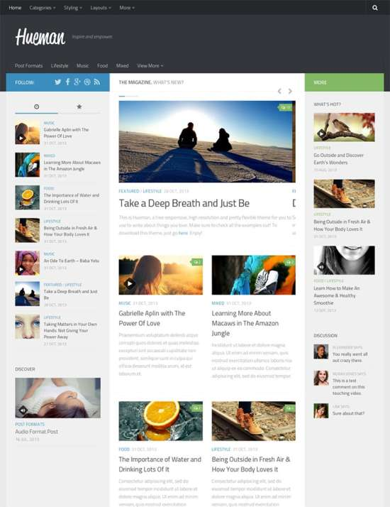 hueman free travel wordpress theme
