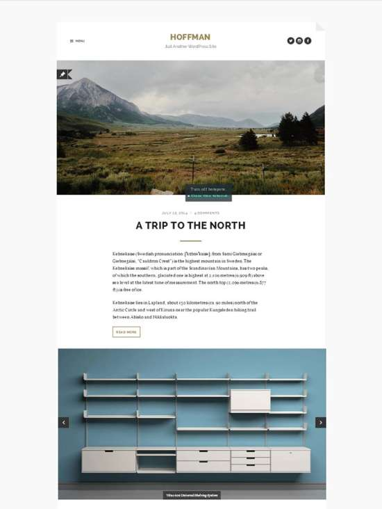 hoffman free travel wordpress theme